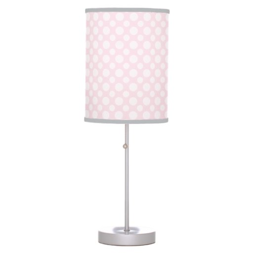 Pink Polka Dot Pattern Print Girl's Lamp