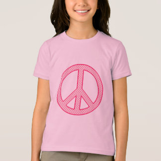 Pink Polka Dot Peace T-Shirt