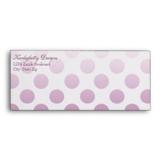 Pink Polka Dot Personalized Envelope