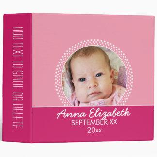 Pink Polka Dot Photo Frame Baby Girl Binder