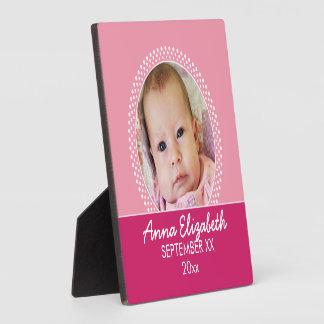 Pink Polka Dot Photo Frame Baby Girl Photo Plaques