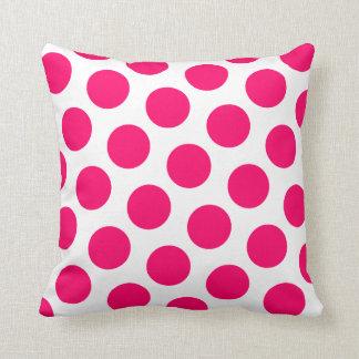 Pink Polka Dot Throw Pillows