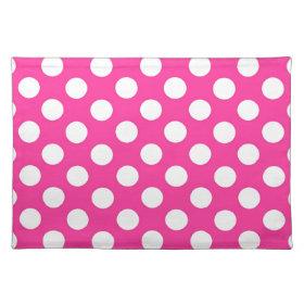 Pink Polka Dot Place Mats
