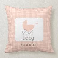 Pink Polka Dot Pram Pillow