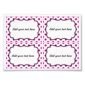 Pink polka dot printable labels photo