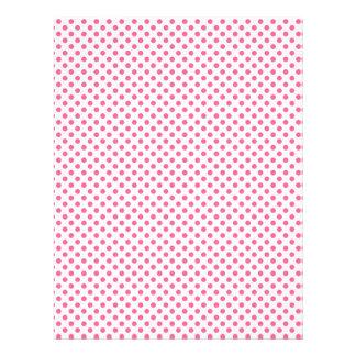Pink polka dot scrapbook paper design letterhead