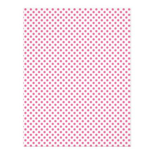 Pink polka dot scrapbook paper design letterhead   Zazzle
