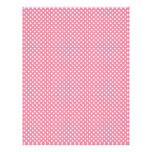 Pink Polka Dot Scrapbook Paper Letterhead