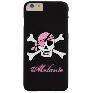Pink Polka Dot Scull and Crossbones iPhone Case