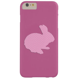 Pink Polka Dot Silhouette Bunny iPhone 6 Case