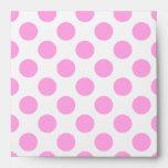 Pink Polka Dot Square Envelope