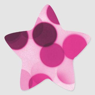 Pink Polka Dot Star Sticker