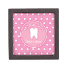 Pink Polka Dot Tooth Fairy Box