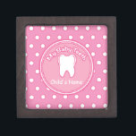 "Pink Polka Dot Tooth Fairy Box<br><div class=""desc"">Pink Polka Dot Tooth Fairy Premium Gift Box</div>"