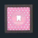 "Pink Polka Dot Tooth Fairy Box<br><div class=""desc"">Pink Polka Dot Tooth Fairy Premium Gift Box</div>"