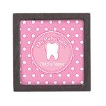 Pink Polka Dot Tooth Fairy Box Premium Keepsake Boxes