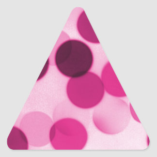 Pink Polka Dot Triangle Sticker