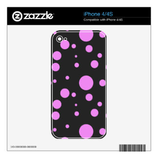Pink Polka-Dot Universe on iPhone 4/4S Skin Decals For The iPhone 4S