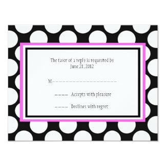 Pink Polka Dot Wedding RSVP Cards
