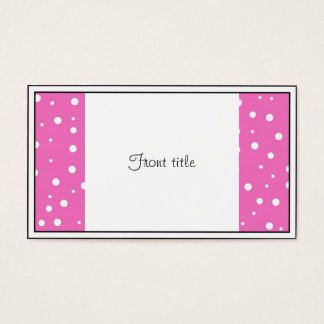 Pink Polka Dots  Background Business Card