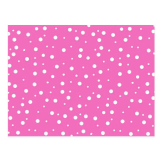 Pink Polka Dots  Background Postcard