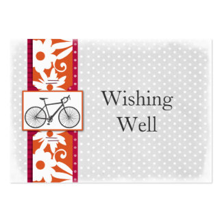pink polka dots bicycle wishing well cards