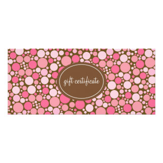 Pink Polka Dots Boutique Style Gift Certificates