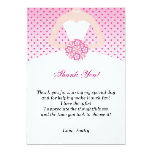 Wedding Shower Thank You Notes | galleryhip.com - The Hippest Galleries!