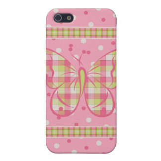 Pink Polka Dots Butterfly Speck Case iPhone 4 iPhone 5 Case