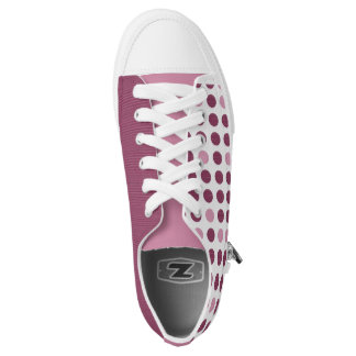 Pink Polka Dots deisgn Girl Women Shoes Printed Shoes