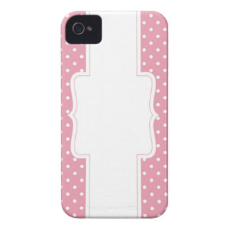 Pink Polka Dots Delicate Bridal or Baby Shower iPhone 4 Case