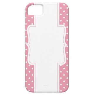 Pink Polka Dots Delicate Bridal or Baby Shower iPhone SE/5/5s Case
