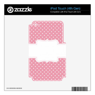 Pink Polka Dots Delicate Bridal or Baby Shower iPod Touch 4G Decals