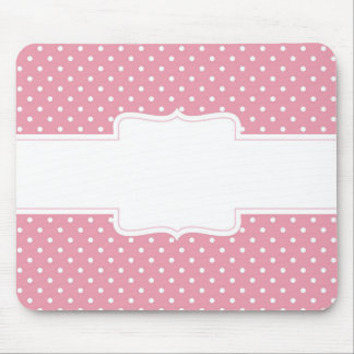 Pink Polka Dots Delicate Bridal or Baby Shower Mouse Pad