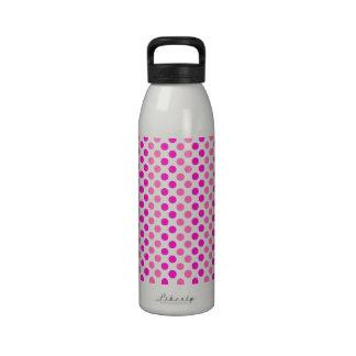 Pink Polka Dots Drinking Bottle