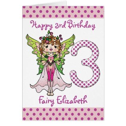 Pink Polka Dots Fairy Princess 3rd Birthday