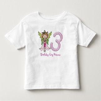Pink Polka Dots Fairy Princess 3rd Birthday Toddler T-shirt