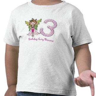Pink Polka Dots Fairy Princess 3rd Birthday Tees