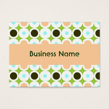 Professional Business Pink Polka Dots In Peach and Green Business Card