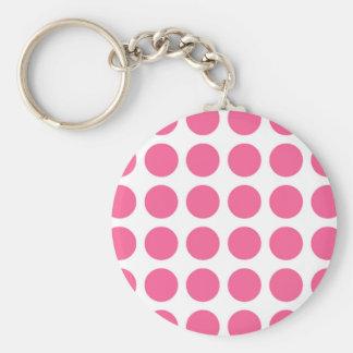 Pink Polka Dots Keychain