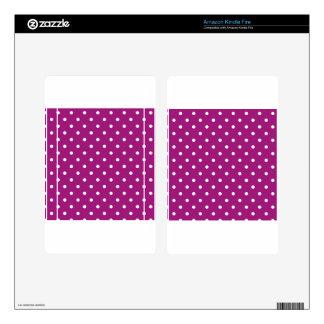 Pink Polka-dots Kindle Fire Skins
