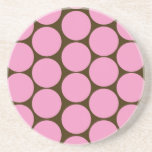 Pink Polka Dots Kitchen Decor Accessories Beverage Coasters