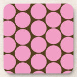 Pink Polka Dots Kitchen Decor Accessories Coasters