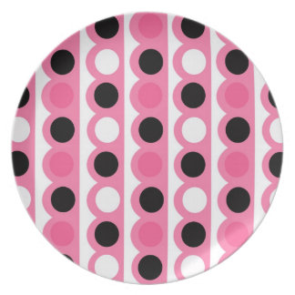 Pink Polka Dots Kitchen Decor Accessories Melamine Plate