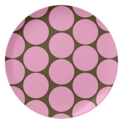 Pink Polka Dots Kitchen Decor Accessories Party Plate