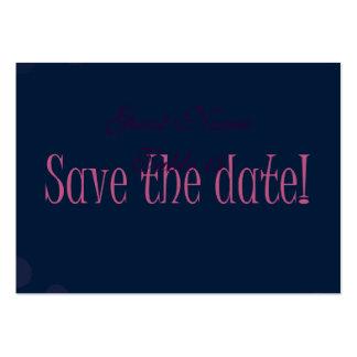 Pink Polka Dots Modern Wedding invite Large Business Card