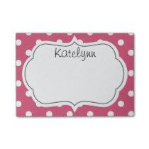 Pink Polka Dots Monogram Post-It Notes