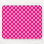 Pink Polka Dots Mouse Pads