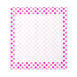 Pink Polka Dots Notepad