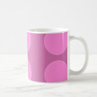Pink Polka Dots on Darker Pink Pattern Gifts Coffee Mug